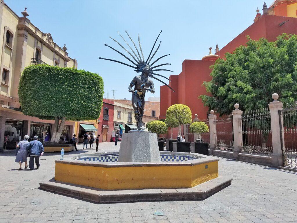 Dancing Chichemeca Statue, Queretaro, Mexico