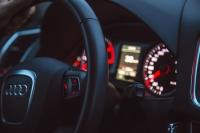 European car steering wheel
