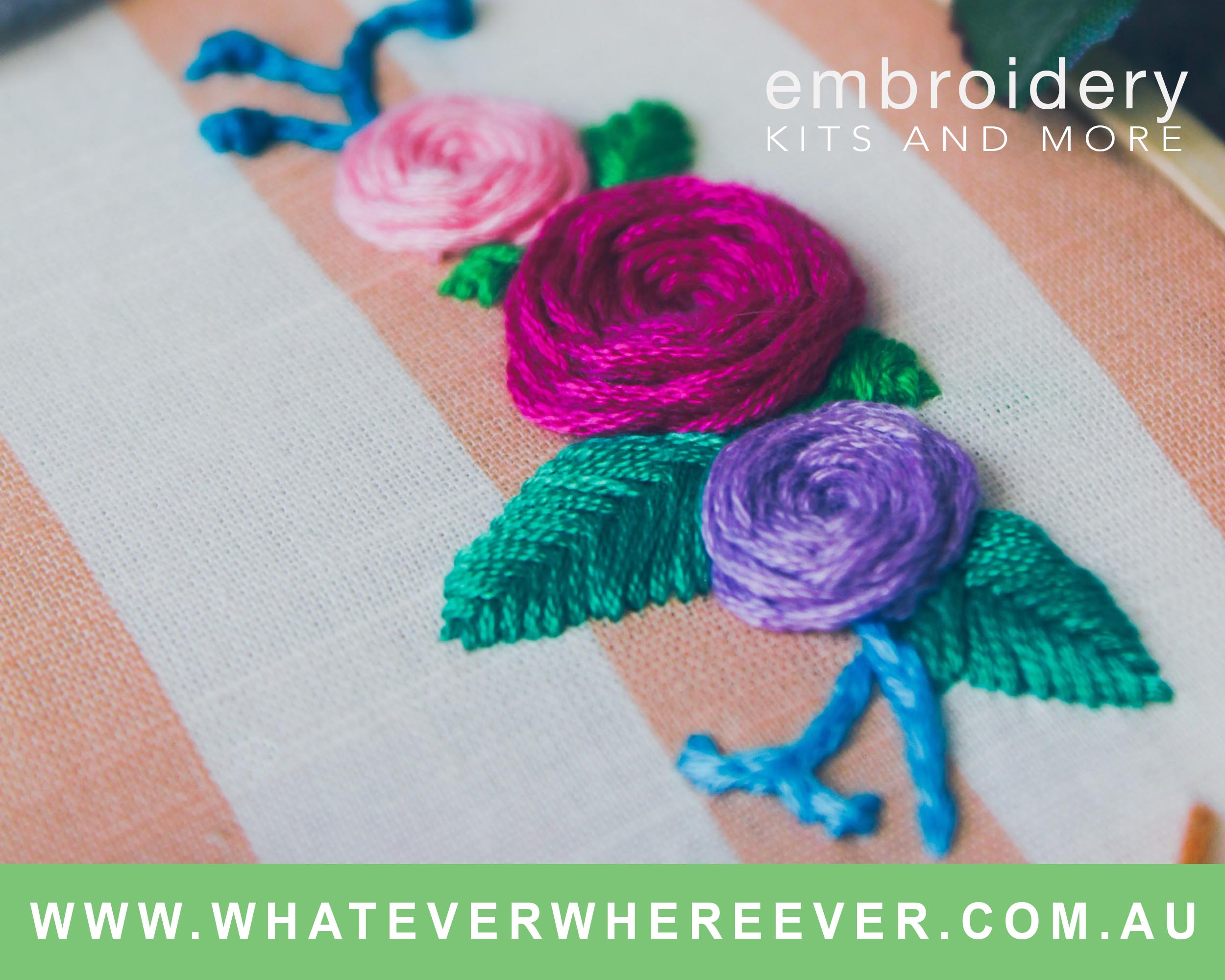 Whatever Wherever Craft Embroidery Range