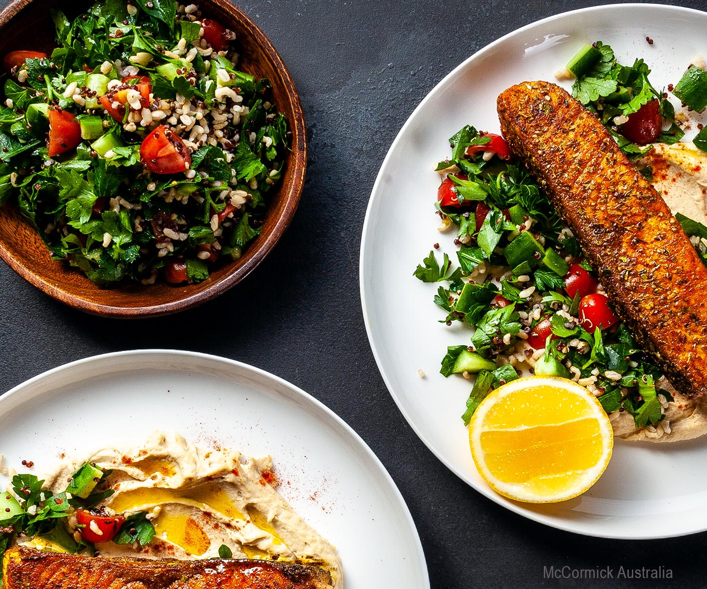 COOKINGPOSTJPEG - SPICE-CRUSTED-FISH-CHEATS-TABOULI