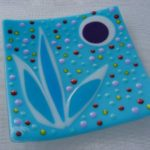 Fused glass tray