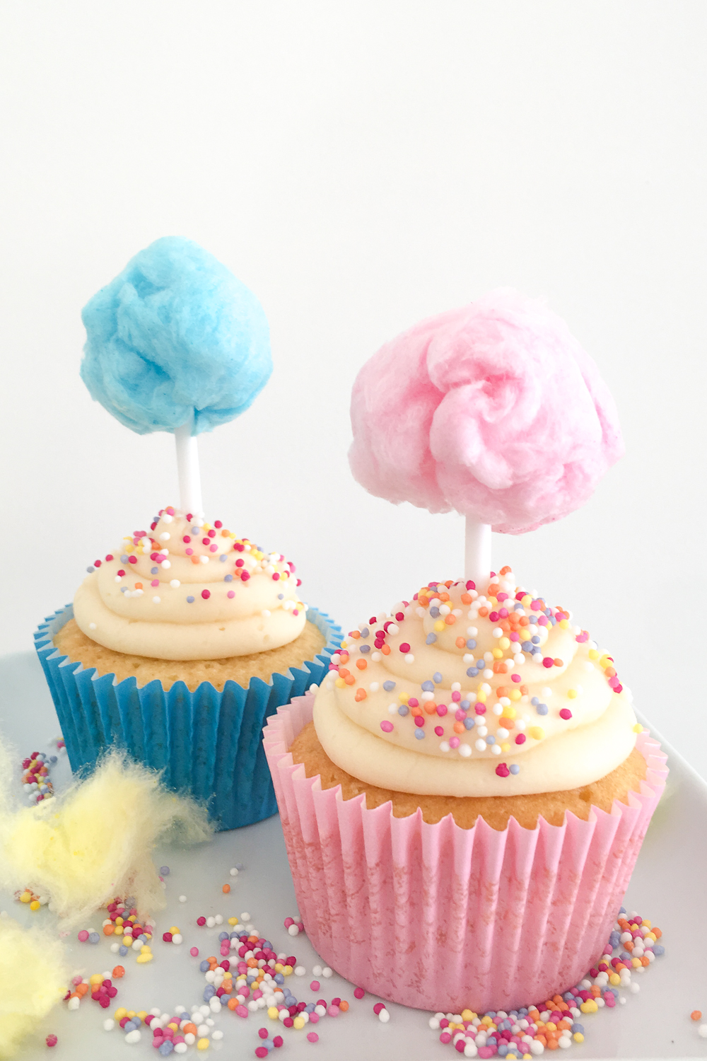 Candy Floss Cupcakes (Cotton Candy Cupcakes)   Club Crafted