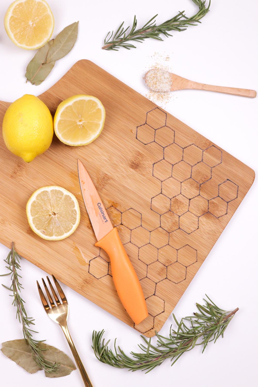 DIY Honeycomb Wood Burned Cutting Board | Club Crafted