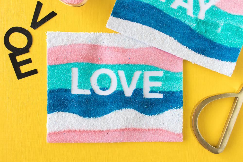 DIY Sand Art Cards | Club Crafted