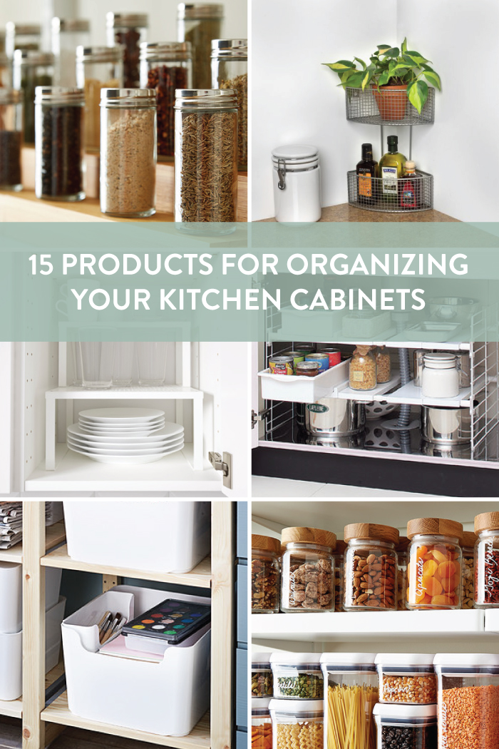Products for Organizing your Kitchen Cabinets