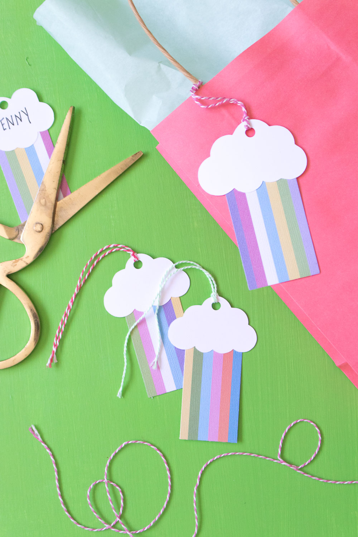 DIY Rainbow Gift Tags | Club Crafted