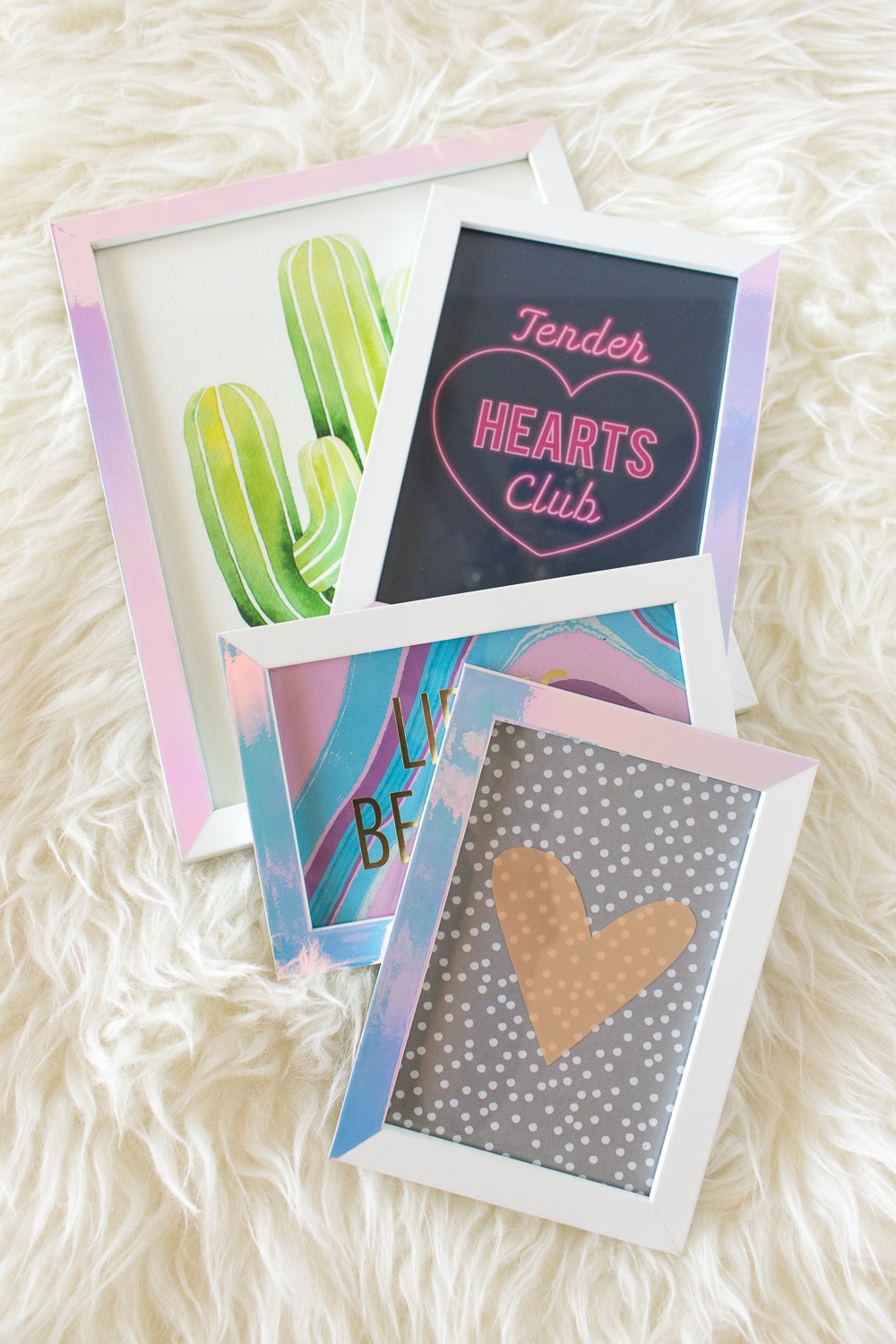 DIY Holographic Photo Frames   Club Crafted