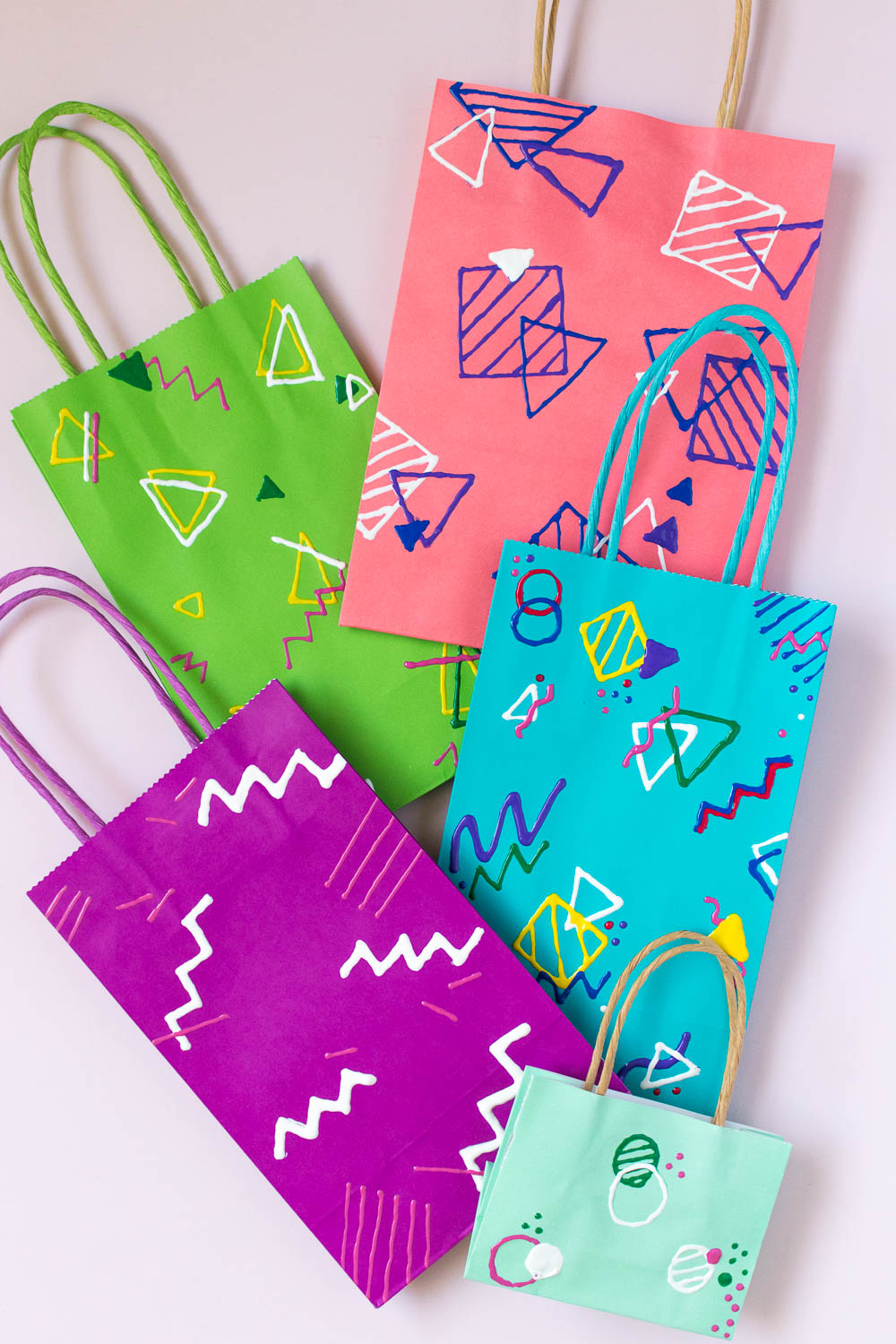 DIY Abstract 80s-Inspired Gift Wrap | Club Crafted