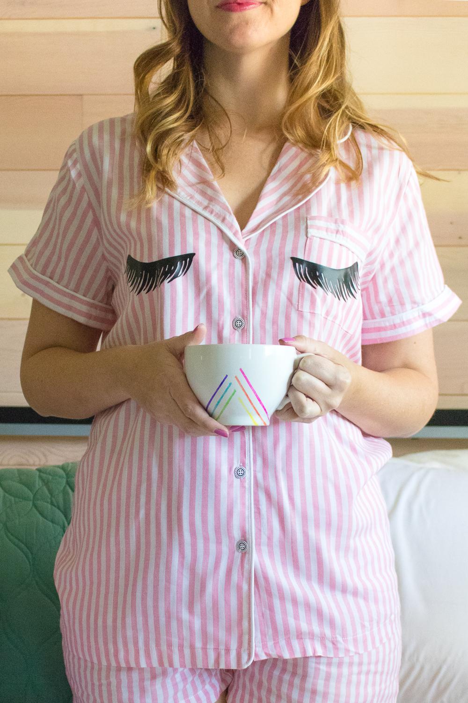 DIY Eyelash Pajamas | Club Crafted