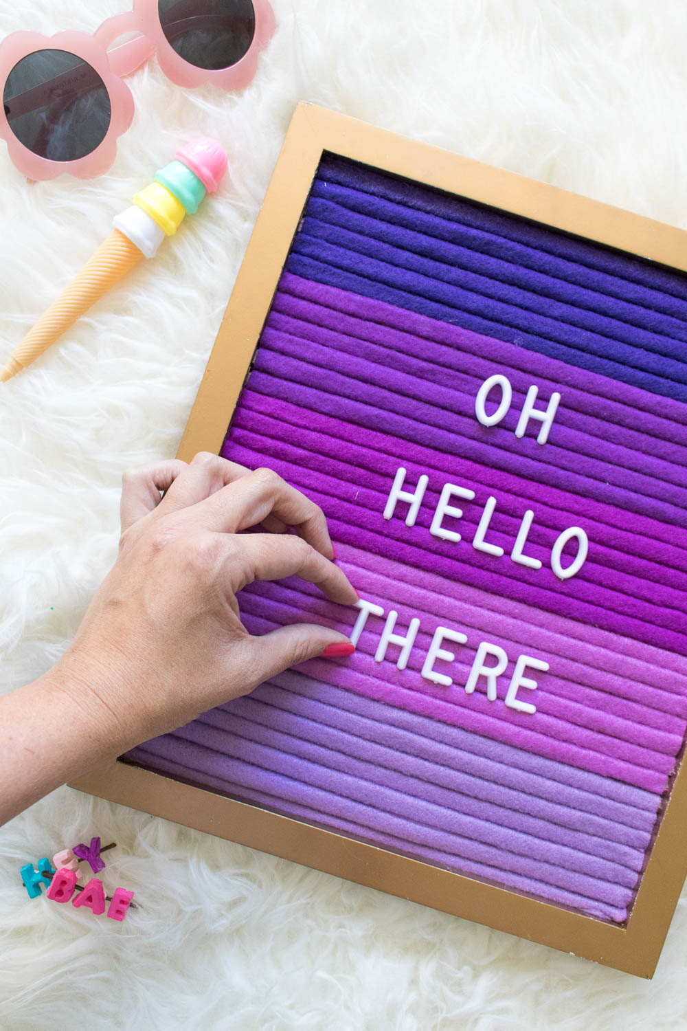 DIY Ombre Letterboard | Club Crafted