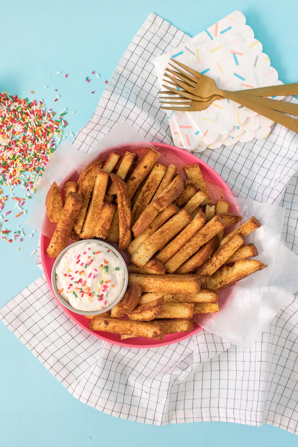 Cake Fries + Frosting Dipping Sauce | Club Crafted
