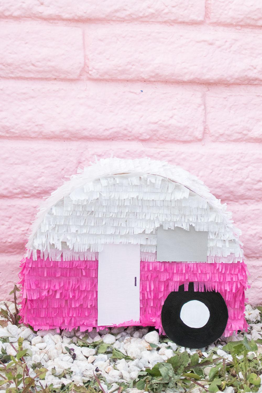 DIY Retro Camper Piñata | Club Crafted