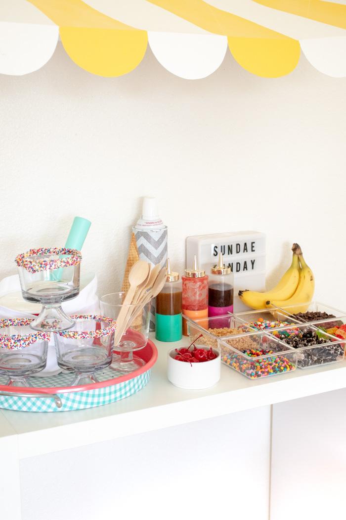 How to Make a Colorful Ice Cream Sundae Bar | Club Crafted