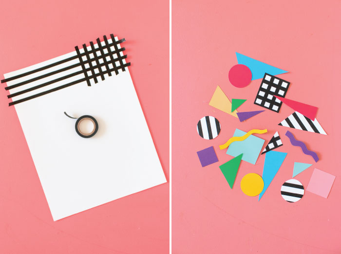 DIY Easy Abstract 80s Wall Art   Club Crafted
