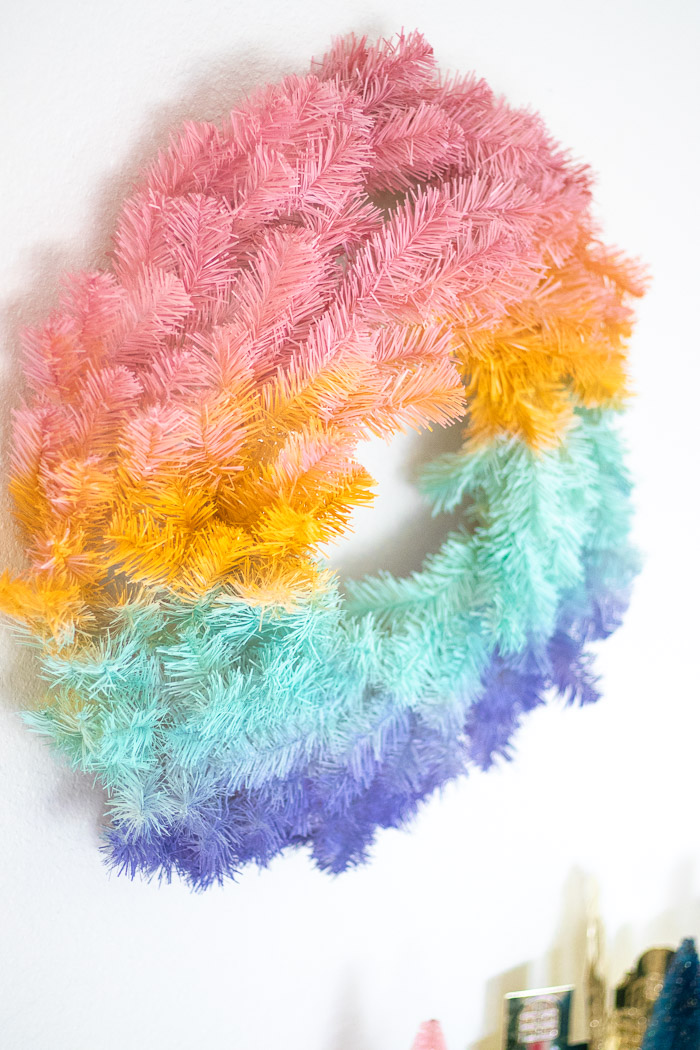 DIY Gradient Wreath for the Holidays   Club Crafted