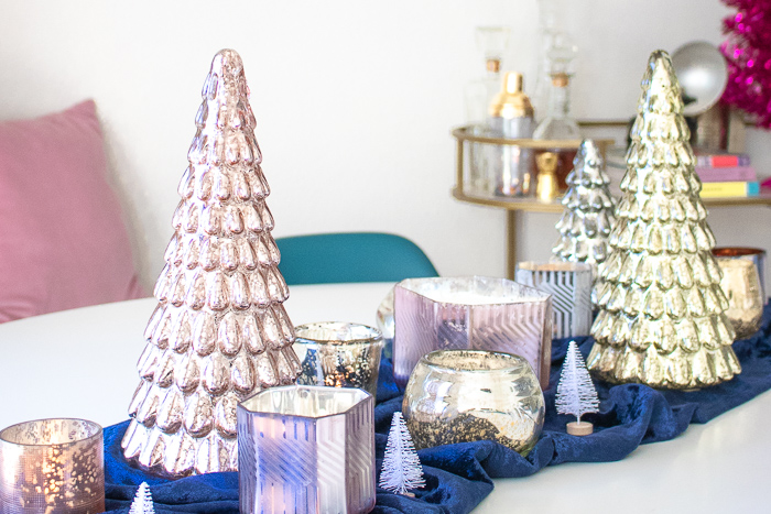Simple Mercury Glass Tablescape for Holiday Gatherings   Club Crafted