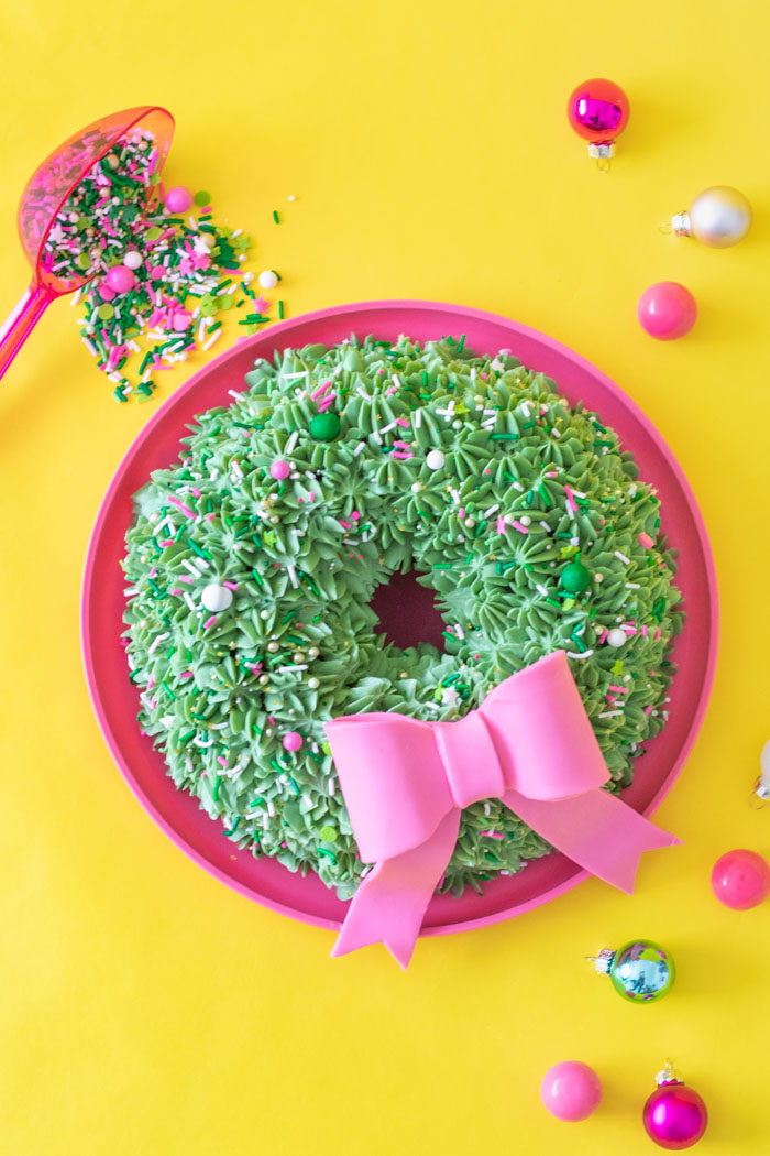 Simple Wreath Bundt Cake for Christmas   Club Crafted
