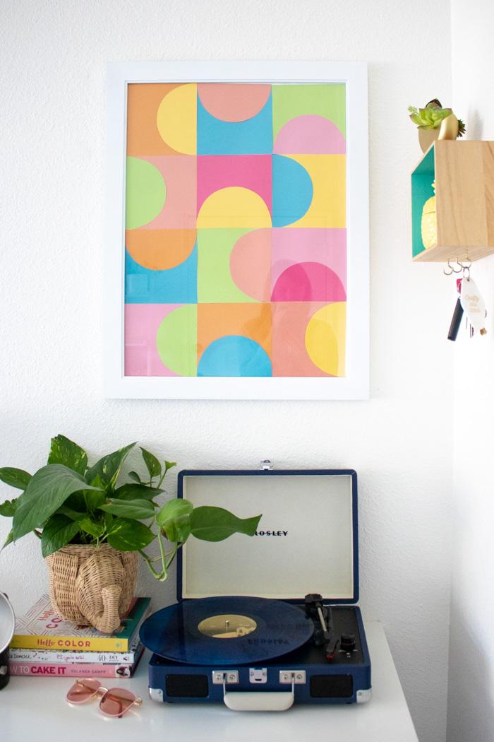 DIY Easy Geometric Paper Wall Art | Club Crafted