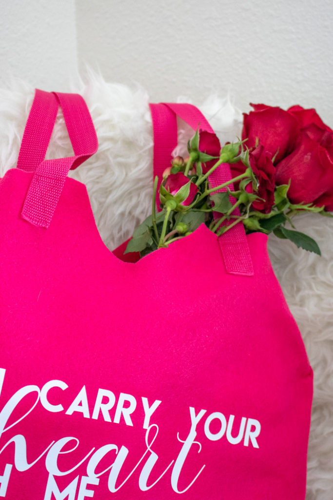 DIY Felt Heart Tote Bag for Valentine's Day | Club Crafted