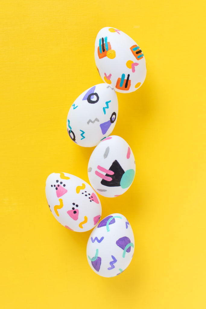 DIY 90s Patterned Easter Eggs   Club Crafted