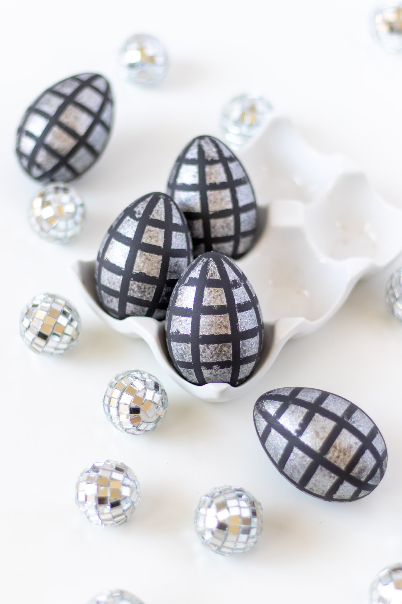 DIY Disco Ball Easter Eggs | Club Crafted