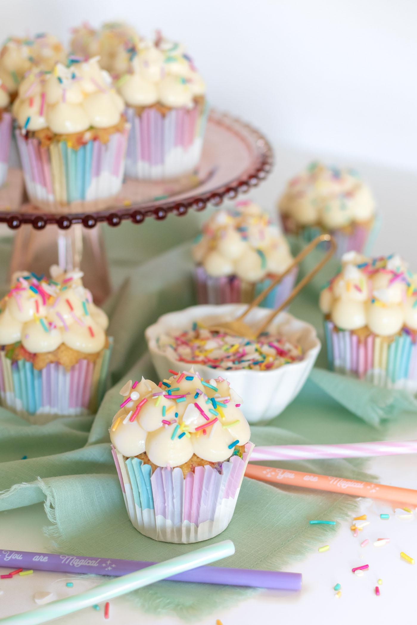 Magical Funfetti Cloud Cupcakes   Club Crafted