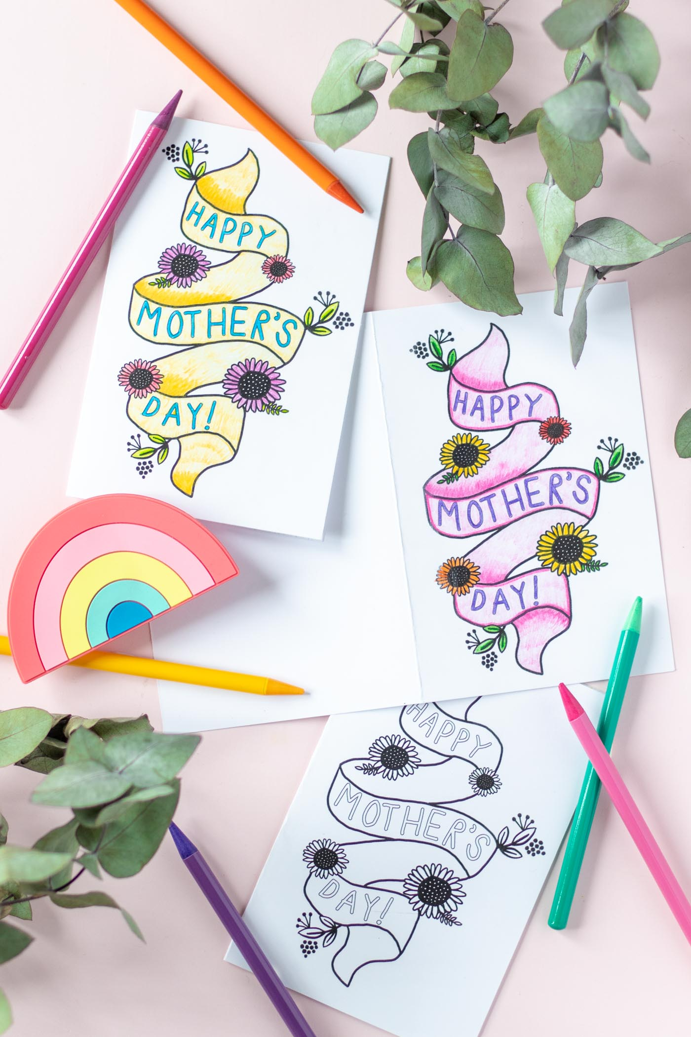 Free Printable! Mother's Day Card Coloring Page | Club Crafted