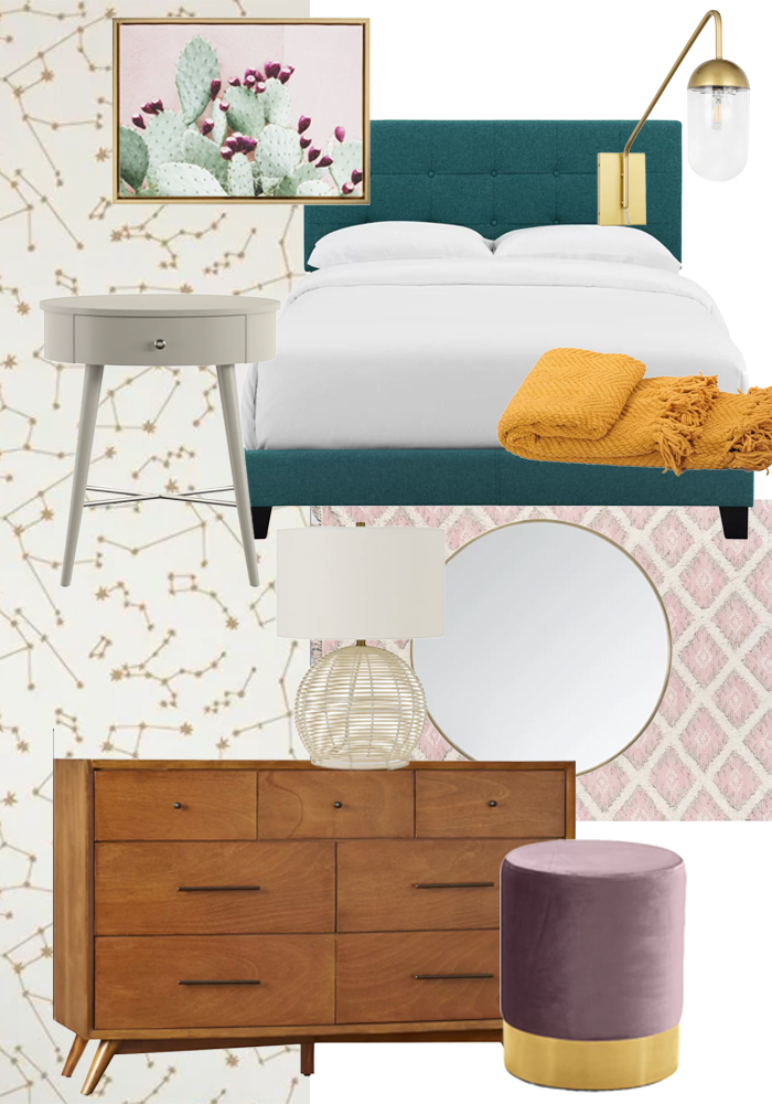 Rented Apartment Bedroom Decor Plans with Wayfair   Club Crafted