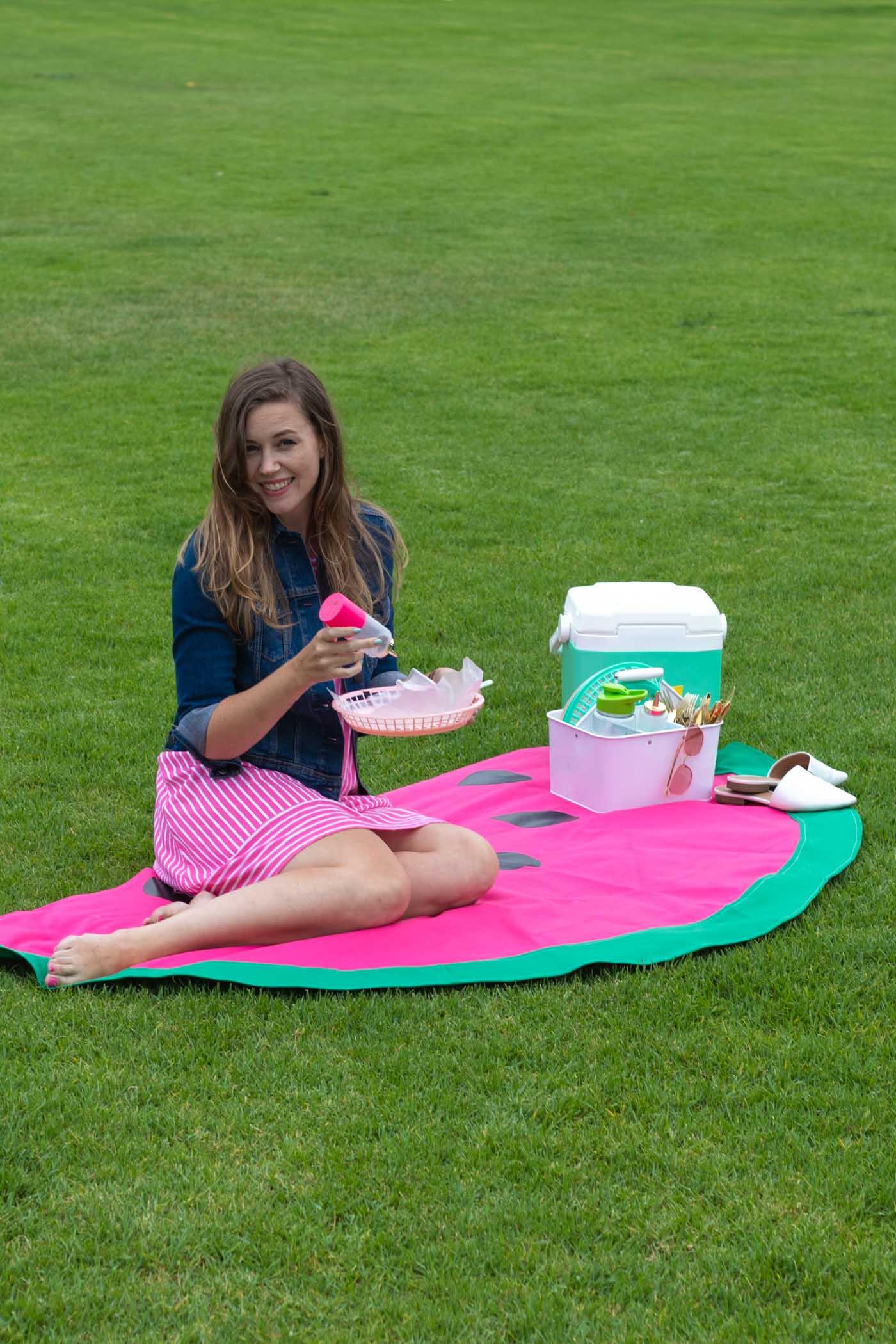 DIY Watermelon Picnic Blanket Sewing Tutorial | Club Crafted