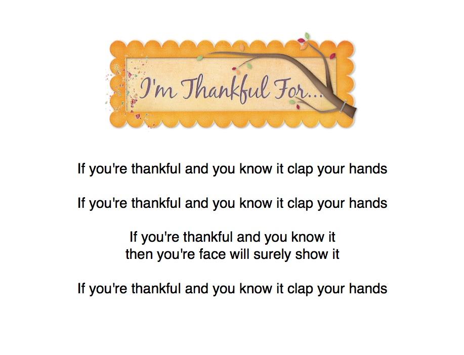 I'm Thankful Song