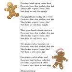 five little gingerbread song