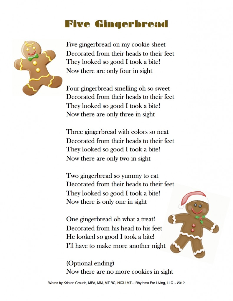 Five Gingerbread song