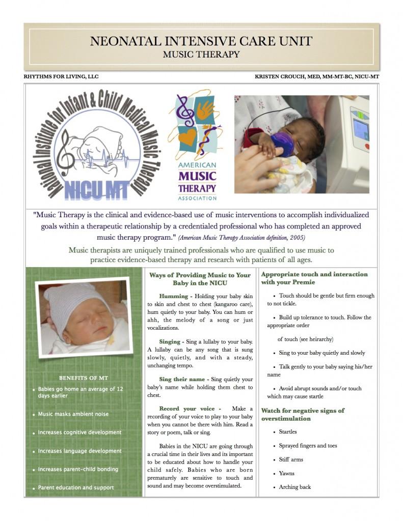 NICU info for Parents