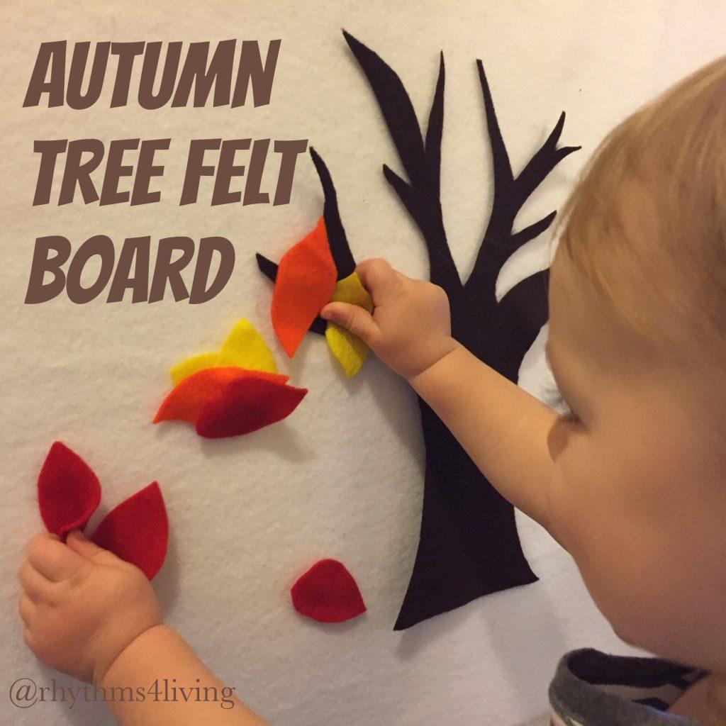 autumn tree felt board, free template
