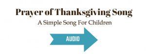 Prayer of Thanksgiving Song audio sample