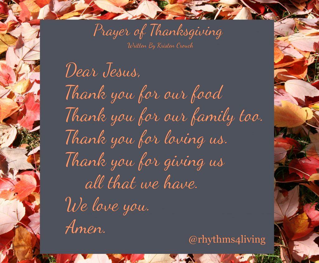Prayer of thanksgiving lyrics 1