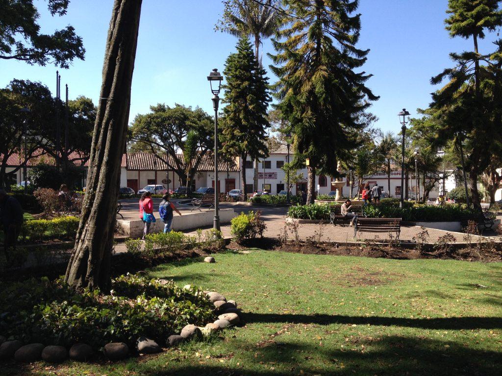Plaza principal de Sopó