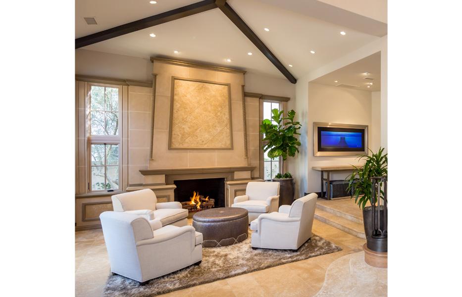Formal living room of custom home built by Chris O'Grady as Director of Construction at Grady O Grady