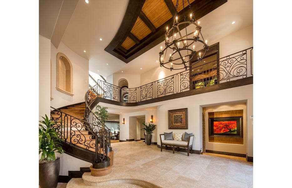 Foyer of custom home built by Chris O'Grady as Director of Construction at Grady O Grady