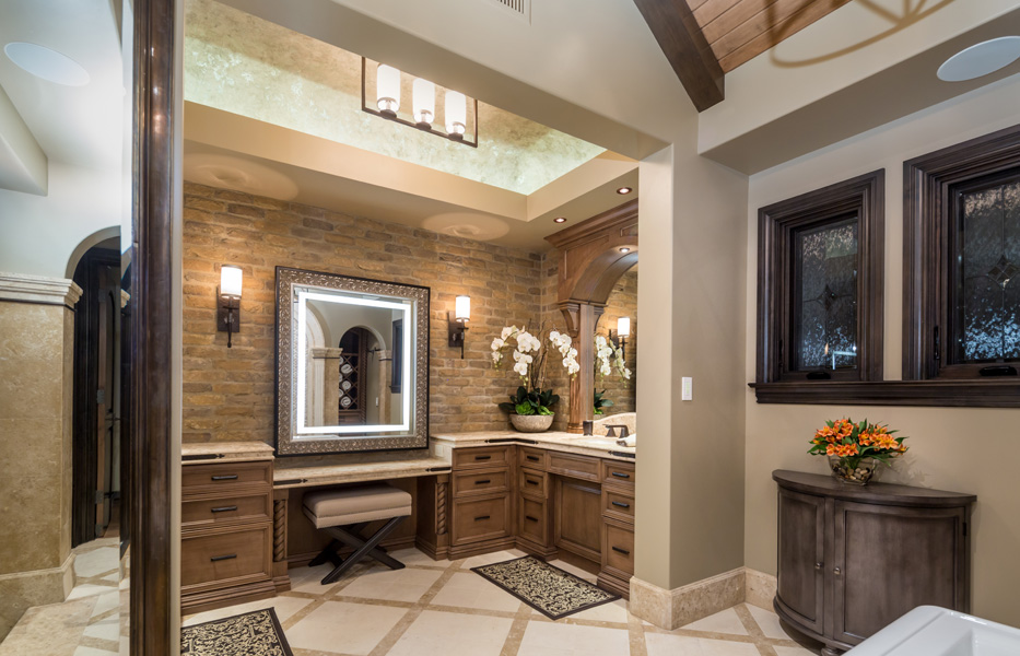 Master bathroom of custom home built by Chris O'Grady as Director of Construction at Grady O Grady