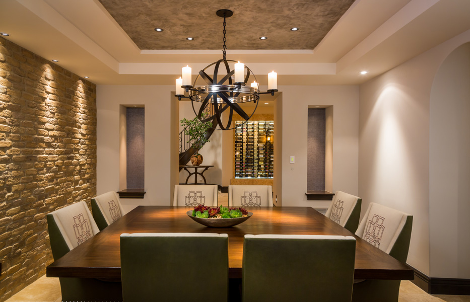 Dining room of custom home built by Chris O'Grady as Director of Construction at Grady O Grady