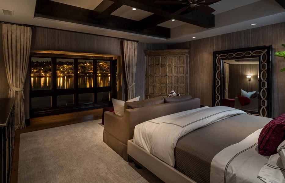 Master Bedroom of custom home built by Chris O'Grady as Director of Construction at Grady O Grady