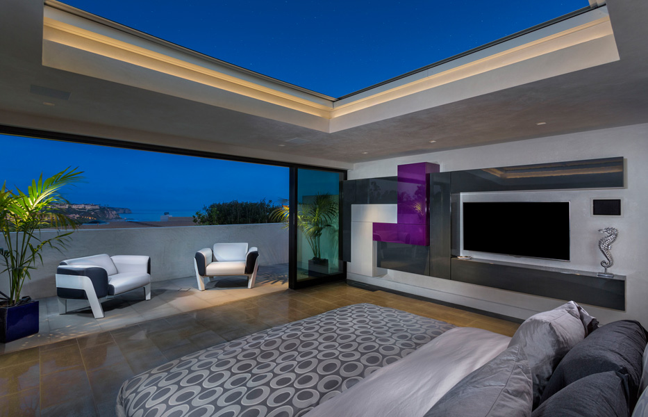 Master Bedroom of custom home built by Chris O'Grady as Director of Construction and Partner at Grady O Grady