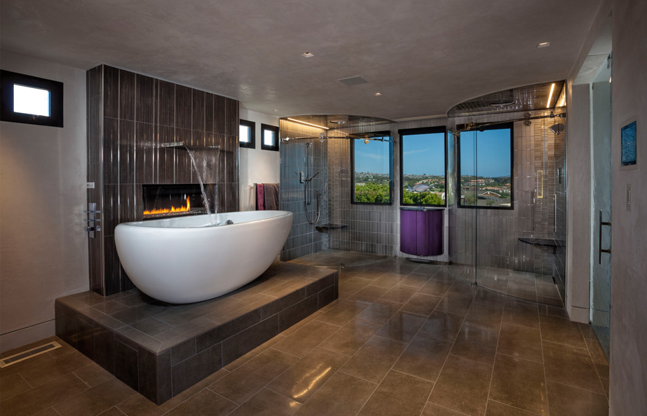 Master Bathroom of custom home built by Chris O'Grady as Director of Construction and Partner at Grady O Grady