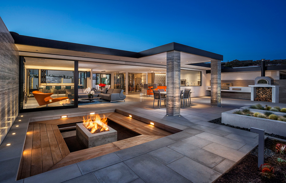 Patio of custom home built by Chris O'Grady as Director of Construction and Partner at Grady O Grady