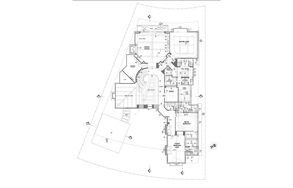Floor plans of custom home built by Chris O'Grady as Director of Construction at Grady O Grady