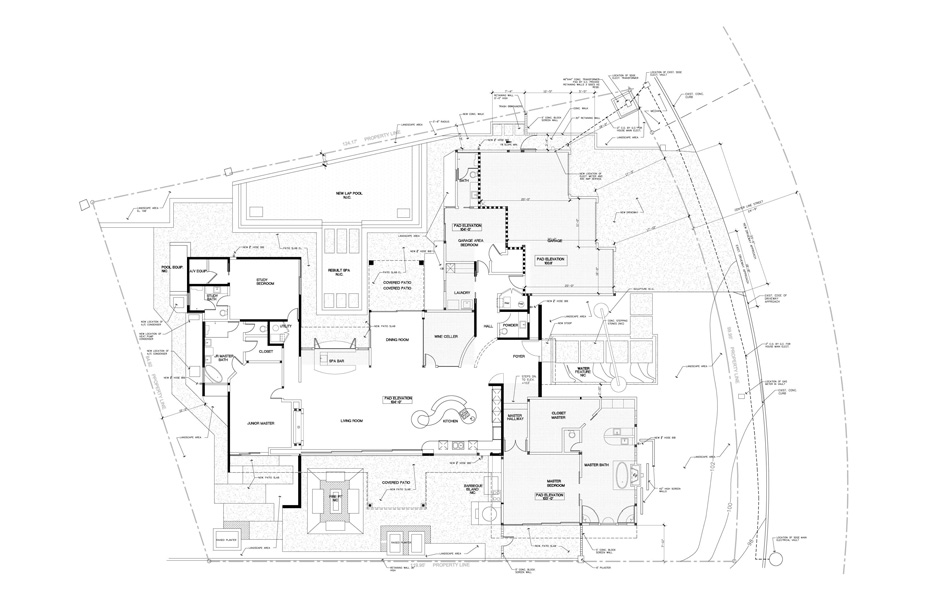 Floor plans of custom home built by Chris O'Grady as Director of Construction and Partner at Grady O Grady