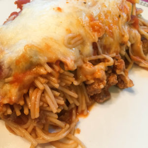 Dinner for 9 for Under $9! {Baked Spaghetti}