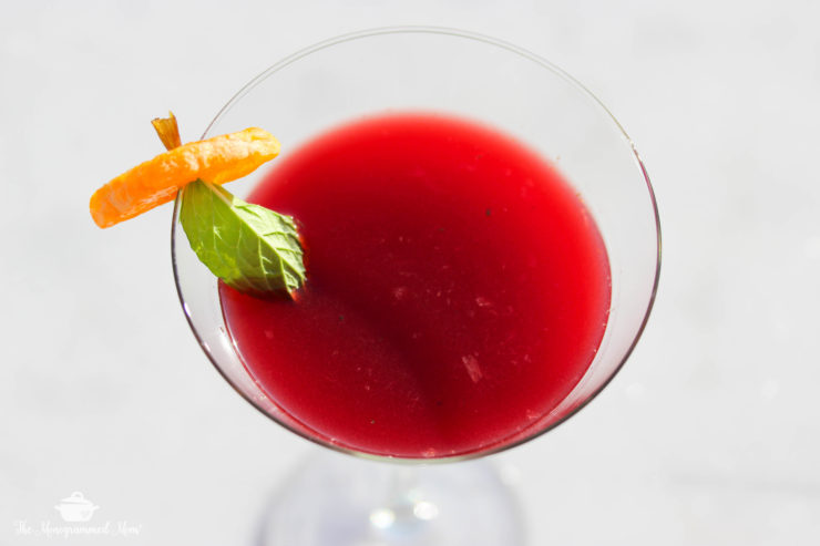 Pomegranate Mint Martini Mocktail