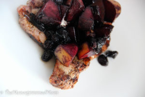 Blueberry Peach Grilled Pork Chops {Whole30} {Paleo}